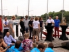 Team Drumbo auf die Brücke